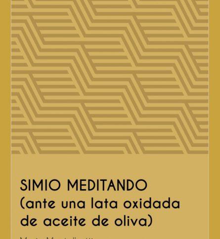 Simio meditando (ante una lata oxidada de aceite de oliva).