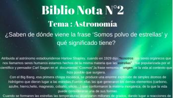 Biblionotas 2 Astronomía